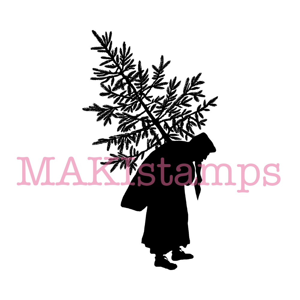 Weihnachtsstempel Scherenschnitt Weihnachtsmann (170206) | MAKIstamps
