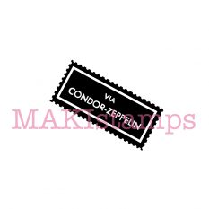 mail art rubber stamp MAKIstamps