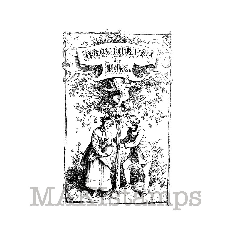 Breviary of marriage rubber stamp makistamps