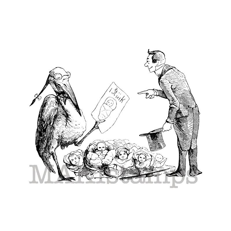 Rubber stamp stork makistamps