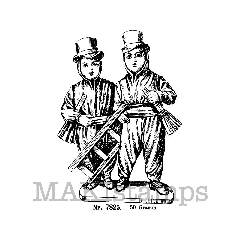 Chimney sweeps rubber stamp makistamps