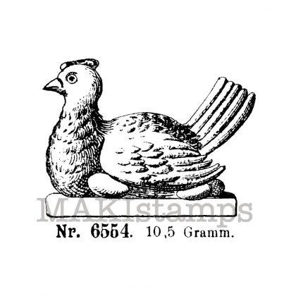 Hen on eggs makistamps