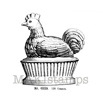 Chicken on a pedestal makistamps