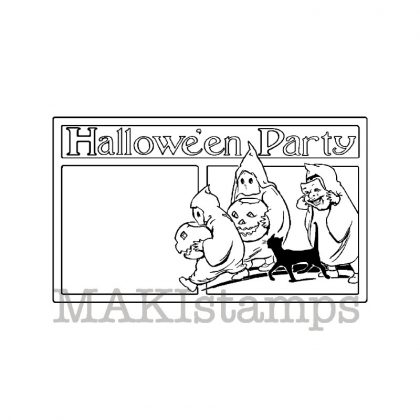 Stempel Einladung Halloween Party