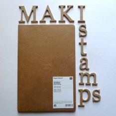 Heft DIN A 5 Kraftpapier Scrapbooking Album zum Selbergestalten MAKIstamps Stempel und Stempelzubehör