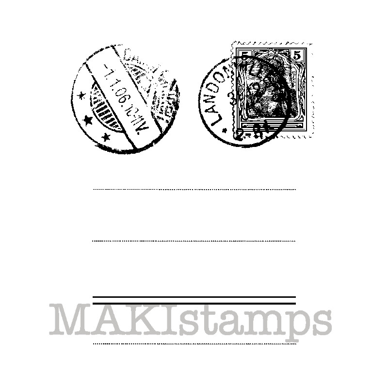 Postcard Address Field Rubber Stamp Background 150310