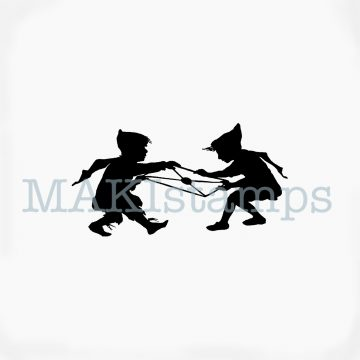 Silhouette mail art stamp MAKIstamps