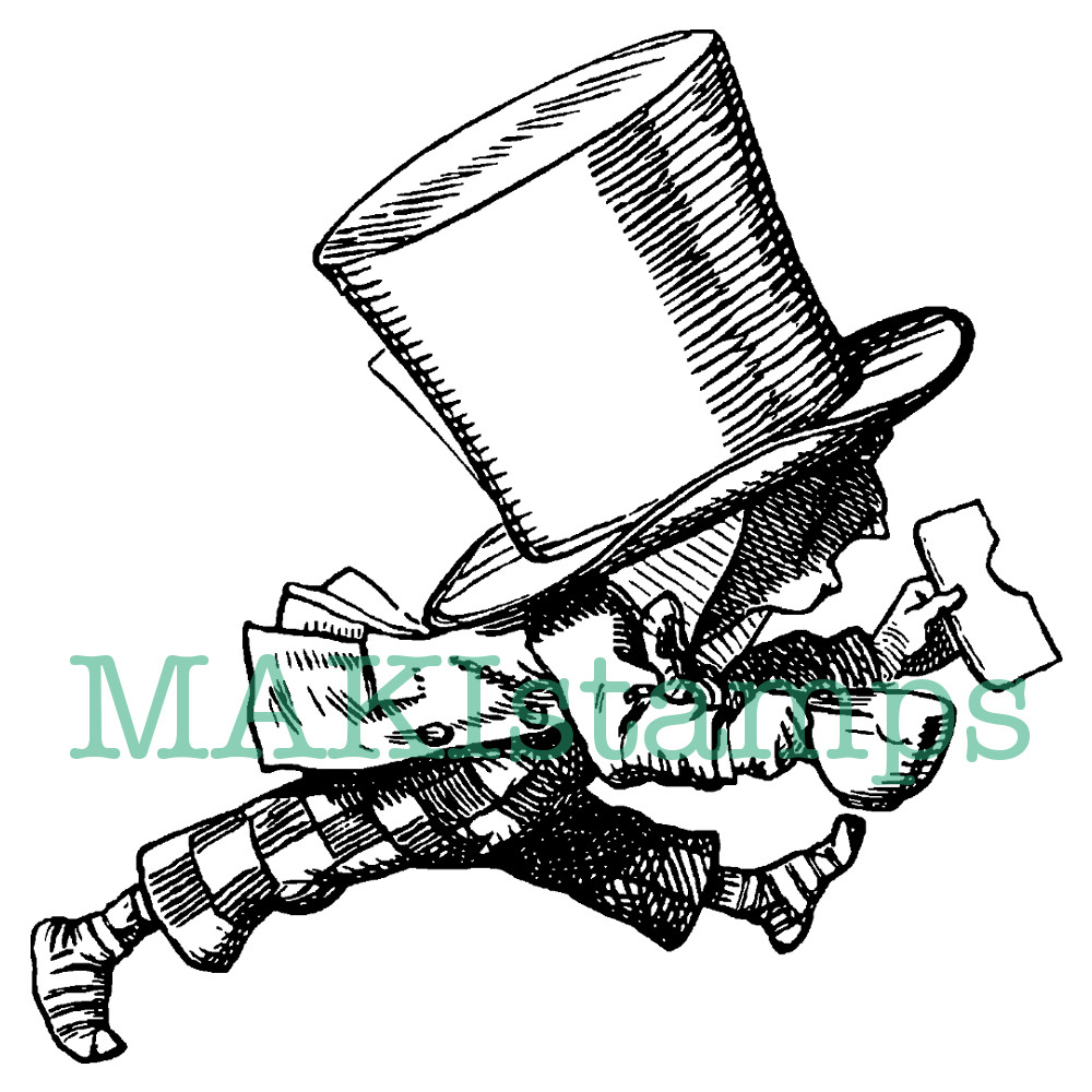running Mad Hatter stamp