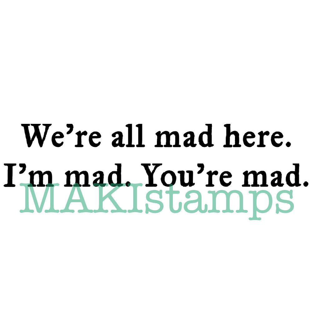 text rubber stamp mad