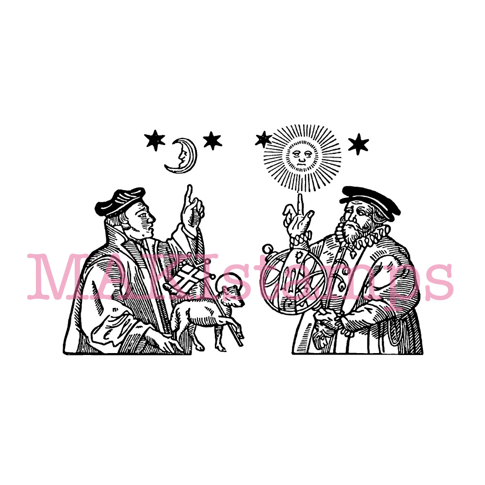 astral rubber stamp MAKIstamps