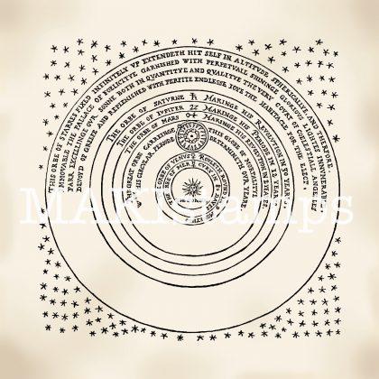 Astronomie Stempel universum Thomas Digges makistamps