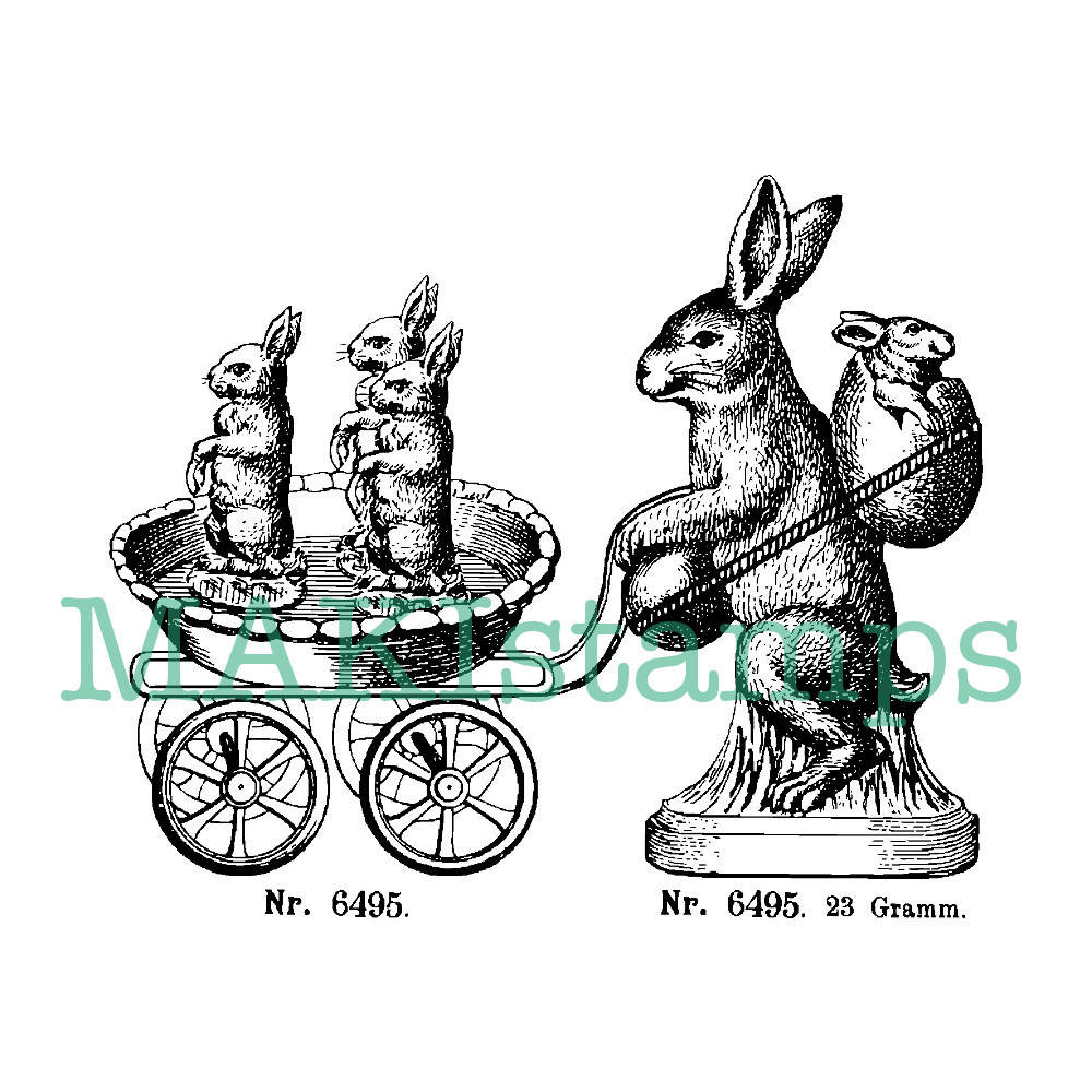 easter rubber stamp