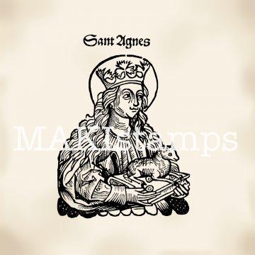 Stempel Heilige Agnes Schaf makistamps