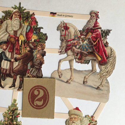Victorian paper scraps Christmas