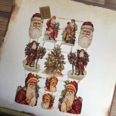 Christmas paper scraps victorian style