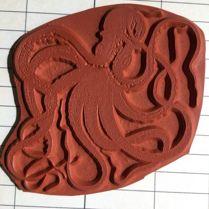rubber stamp octopus MAKIstamps