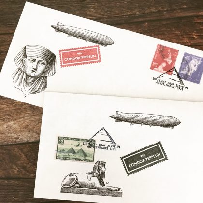 faux postage rubber stamps MAKIstamps
