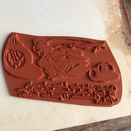 rubber stamp still life MAKIstamps special collection
