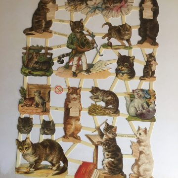 German Paper scraps cats MAKIstamps