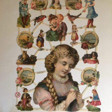 Victorian paper scraps MAKIstamps