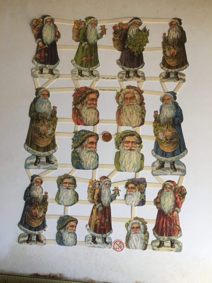 Paper scraps vintage style father Christmas MAKIstamps