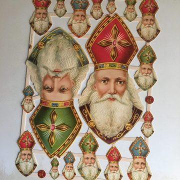 Victorian Paper scraps vintage style Christmas MAKIstamps