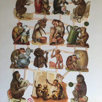 Affen Oblaten MAKIstamps Glanzbilder