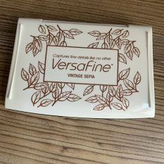 Versafine ink pad Vintage Sepia MAKIstamps rubber stamps