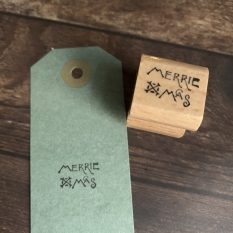 MAKIstamps wood mounted rubber stamp limited edition
