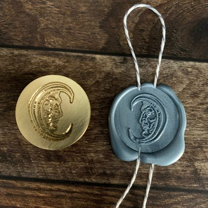 wax seal stamp moon MAKIstamps