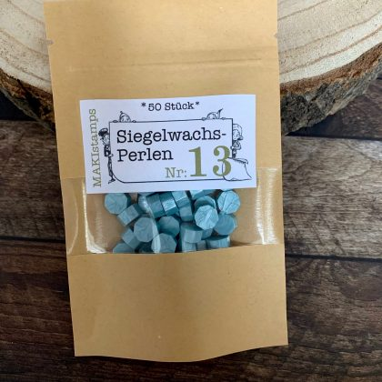 sealing wax beads turquoise MAKIstamps