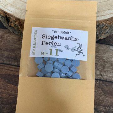 sealing wax beads light blue MAKIstamps