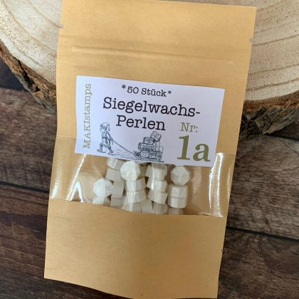 sealing wax beads shimmering white MAKIstamps