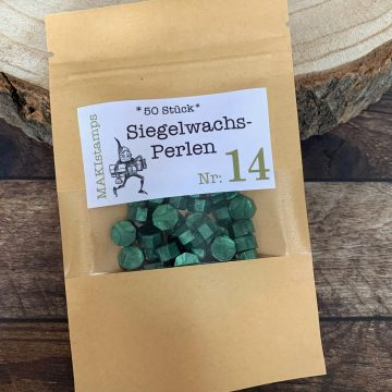 sealing wax beads green MAKIstamps