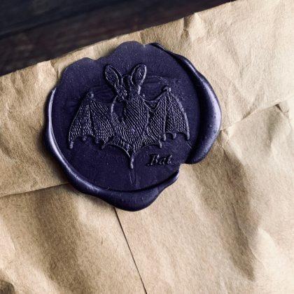 Halloween sealing wax stamp bat MAKIstamps