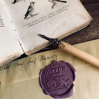 sealing wax stamp vintage collage MAKIstamps