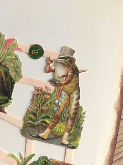 german paper scraps frogs vintage die cuts MAKIstamps