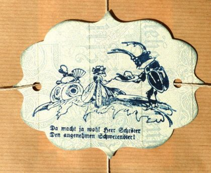 bug rubber stamp
