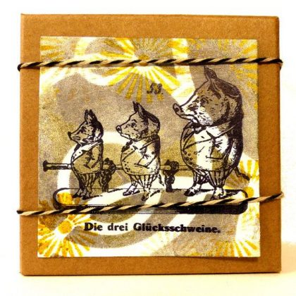 new years rubber stamp pigs