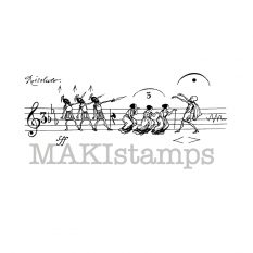MAKIstamps music scale rubber stamp Honoré de Grandville