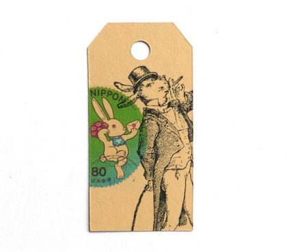 easter rubber stamp gentleman hare