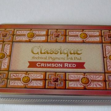 inkpad crimson red