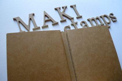 Notizheft Notizbuch DIN A 5 2in1 Stempelzubehör MAKIstamps Stempel