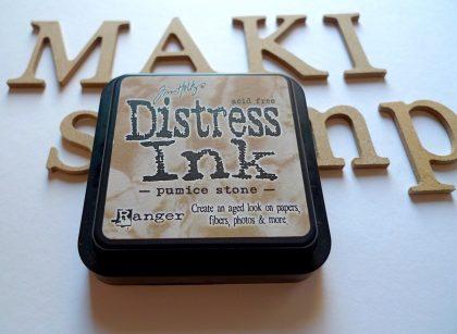 inkpad distress ink pumice stone