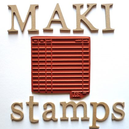 vintage rubber background stamp MAKIstamps