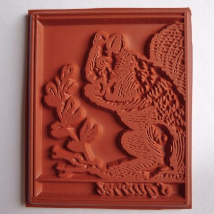 quirrel rubber stamp MAKIstamps