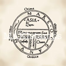 Stempel mittelalterlicher Holzschnitt Astronomie MAKIstamps