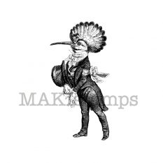 Hoopoe gentleman rubber stamp MAKIstamps rubber art stamps