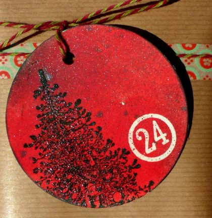 rubber stamp christmas tree