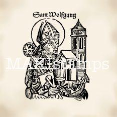 Schedel´sche Weltchronik Stempel makistamps Sankt Wolfgang